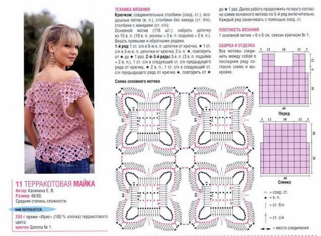 25 Blusas en Crochet con Patrones ⋆ Manualidades Y DIYManualidades ...