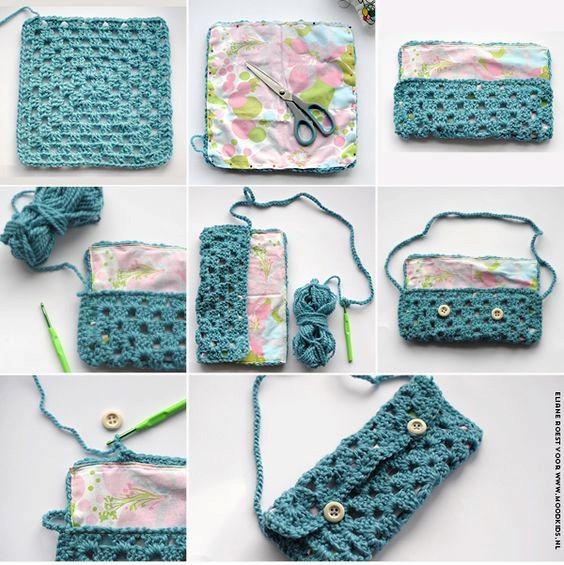 24 Fantasticos Monederos De Crochet Manualidades Y - Monederos-ganchillo