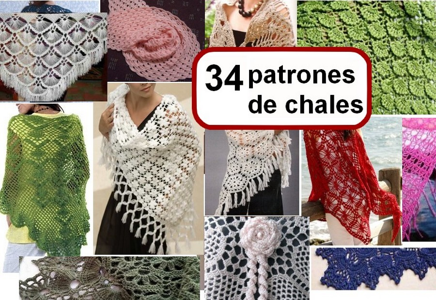 34 Fabulosos Patrones de Chales de ganchillo