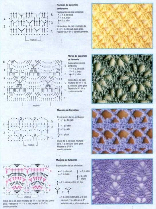 73 Puntos Fantasía En Crochet Que Te Encantaran