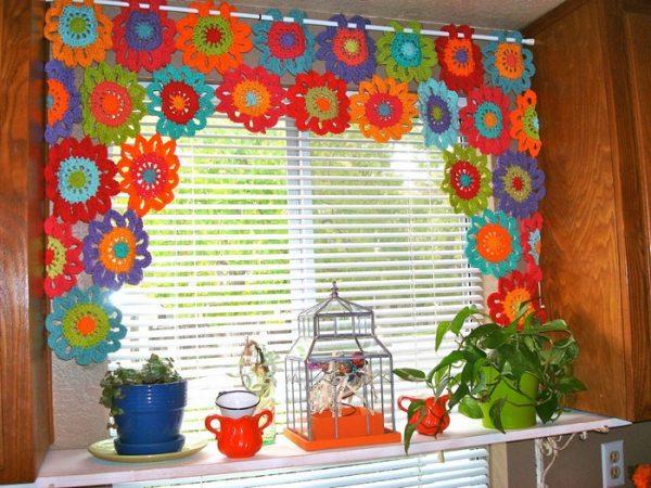 Maravillosas cortinas en crochet paso a paso for Cortinas de gancho para cocina