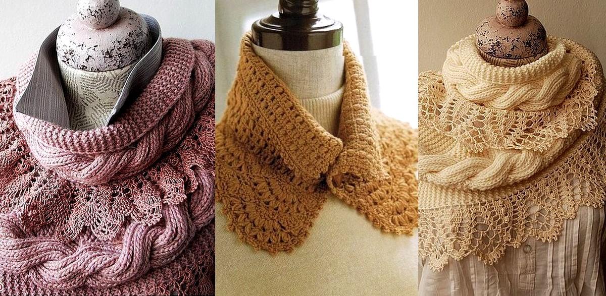 2 Hermosas Bufandas de Crochet/tricot con Patrones - Manualidades Y ...