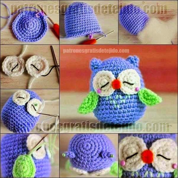 18 buhos tejidos al crochet con patrones y paso a paso - Cosas para hacer de ganchillo ...