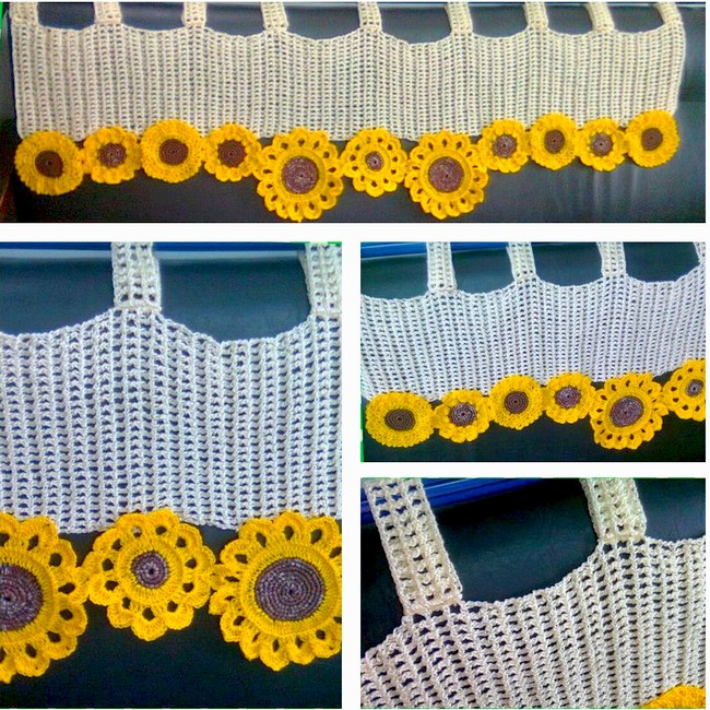 24 patrones de cortinas de ganchillo para cocina