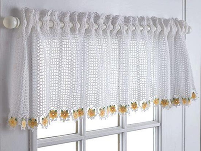 24 patrones de cortinas de ganchillo para cocina - Ver cortinas para cocina ...