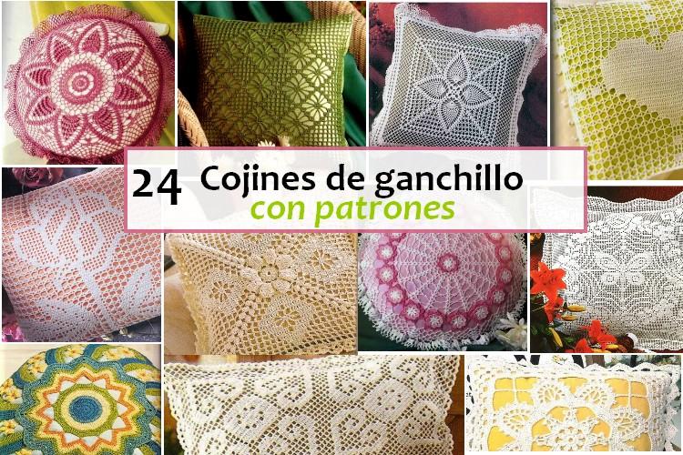 24 Cojines de Ganchillo con Patrones   Manualidades Y
