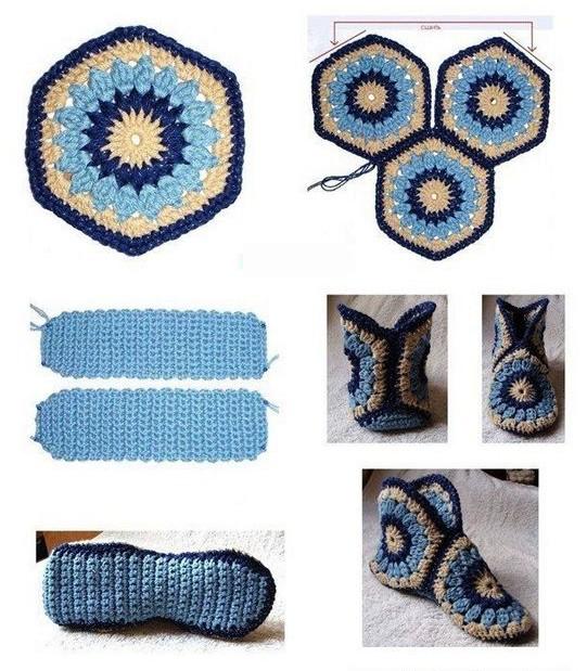 Lujoso Zapatillas Patrón De Crochet Patrón - Patrón de Vestido de ...