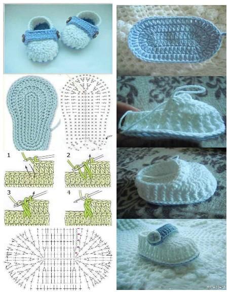 Pantuflas A Crochet Con Patrones Y Paso A Paso