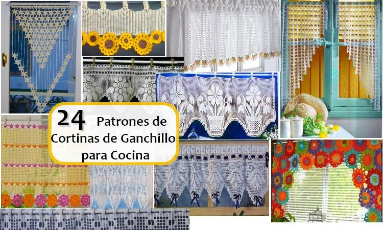 24 Patrones de Cortinas de Ganchillo para Cocina - Manualidades Y ...