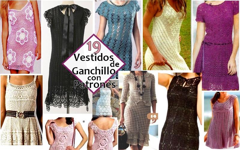 19 Vestidos de Ganchillo Originales con Patrones
