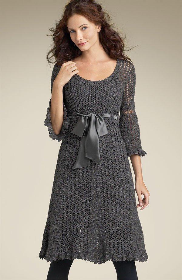Vestidos tejidos para mujer patrones