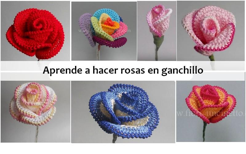 Aprende a hacer rosas en ganchillo manualidades y - Hacer una manta de ganchillo ...