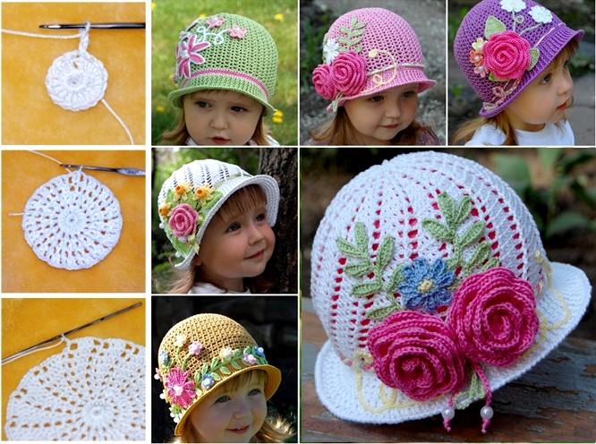 DIY Bellos sombreros de Panamá en crochet ⋆ Manualidades Y ...