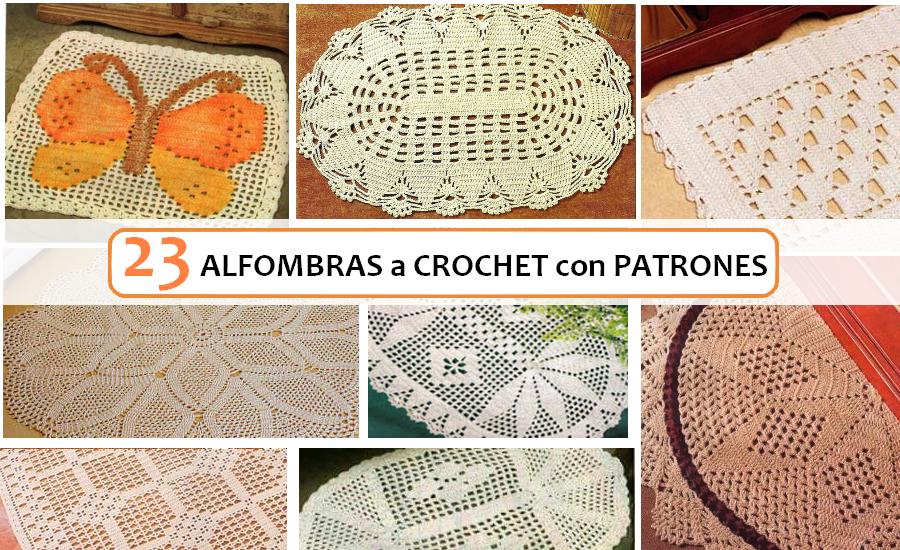 23 Ideas de Alfombras a Crochet con Patrones ⋆ Manualidades Y ...
