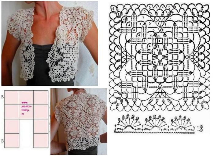 20 Patrones de Boleros en Crochet Gratis ⋆ Manualidades Y ...