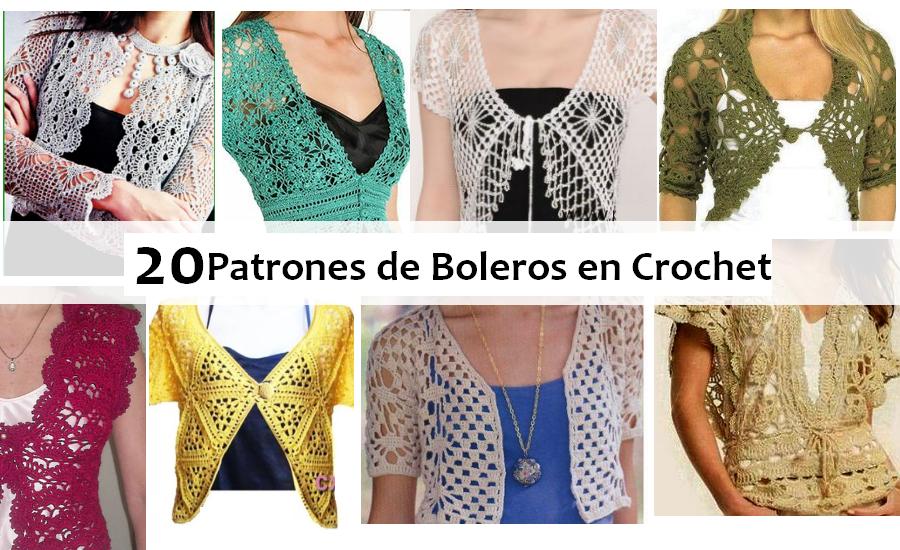 Lujo Bolero Crochet Patrón Libre Elaboración - Manta de Tejer Patrón ...