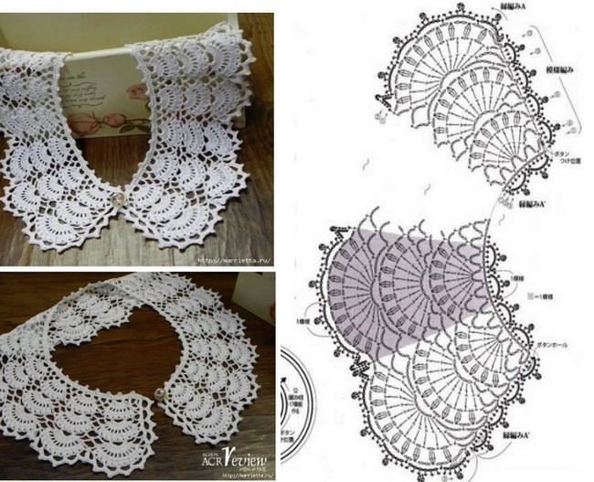 24 Cuellos Tejidos a Crochet con Patrones ⋆ Manualidades Y ...