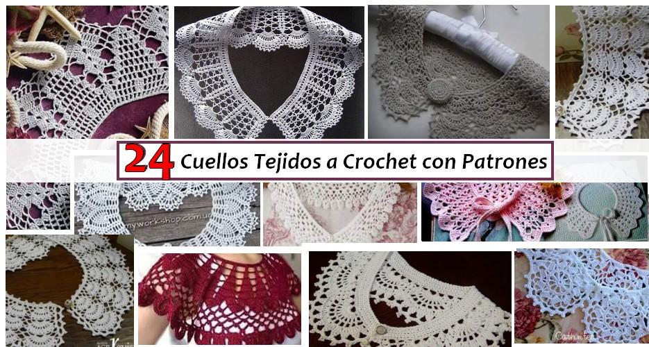 24 Cuellos Tejidos a Crochet con Patrones - Manualidades Y ...