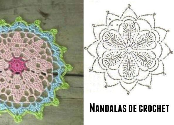20 ideas mandalas para atrapasue os en crochet - Ideas para hacer ganchillo ...