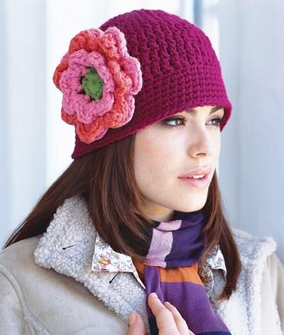 Modelos y patrones para gorros tejidos al crochet t