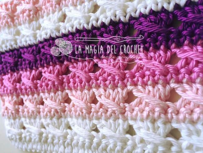 Como hacer punto lazada a crochet manualidades y - Como hacer ochos de punto ...