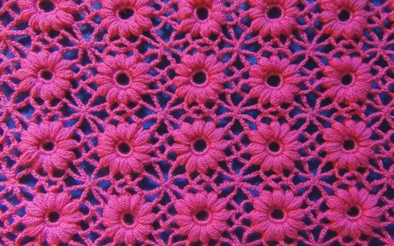 Punto crochet flor