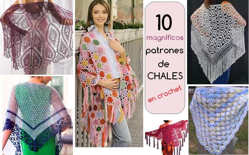 patrones de chales em crochet