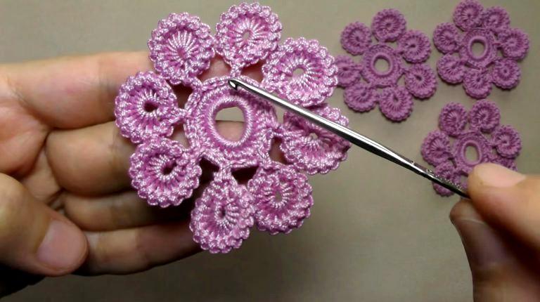 Como Hacer Una Linda Flor En Crochet Manualidades Y - Como-hacer-una-flor-a-crochet