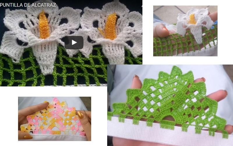 2 puntillas de crochet maravillosas manualidades y - Cosas de ganchillo faciles ...
