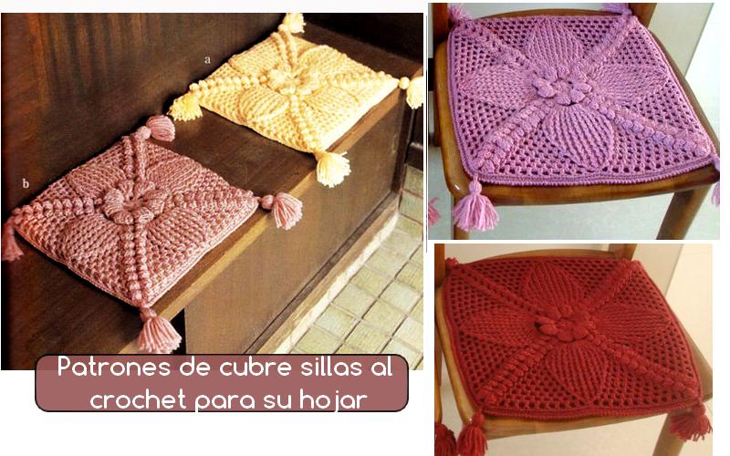 Patrones De Cubre Sillas Tejidos Al Crochet Manualidades