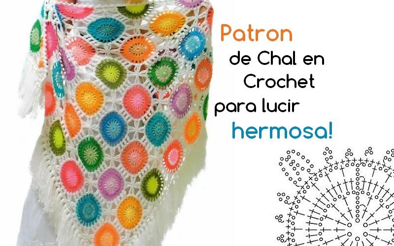 Patron de Chal en Crochet para lucir hermosa! - Manualidades Y ...