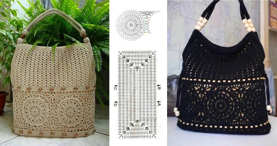 Linda bolsa al crochet con patrones - Manualidades Y DIYManualidades ...