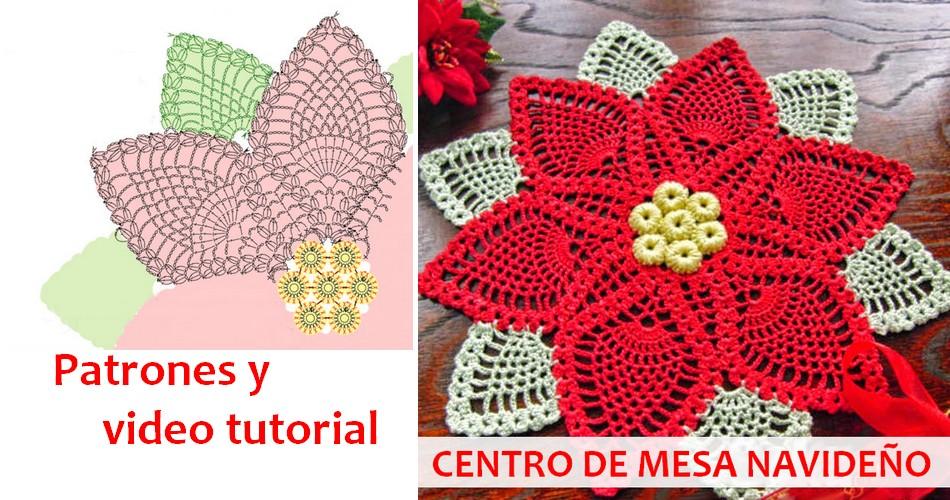 Fant stico centro de mesa navide o al crochet for Como hacer un centro de mesa navideno