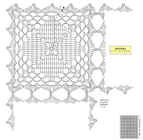 Sencillo Motivo en Crochet con Patron ⋆ Manualidades Y ...