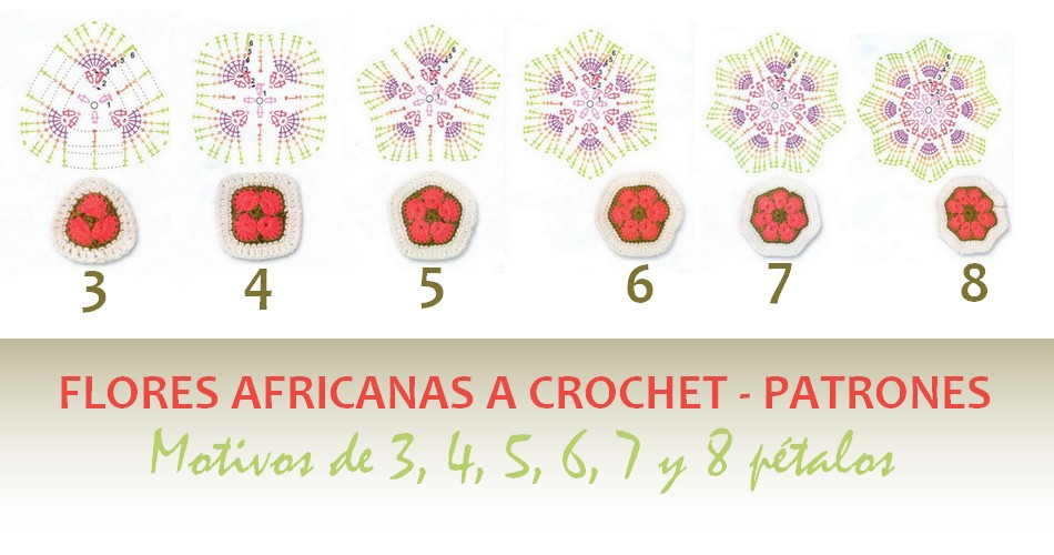 Flores africanas a crochet - Patrones - Manualidades Y ...