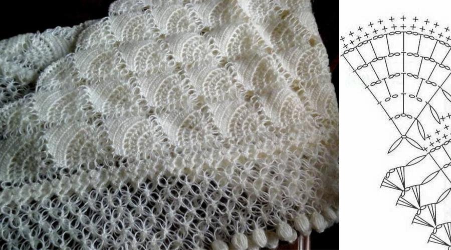 Chal Blanco de Ensueño - Crochet con patrón - Manualidades Y ...
