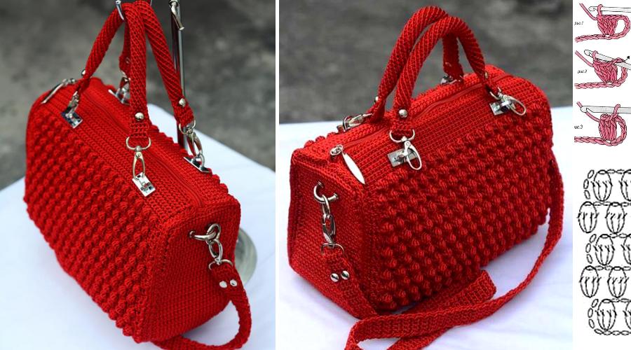 Elegante Bolsa en Crochet con Patrones y Videos ⋆ Manualidades Y ...