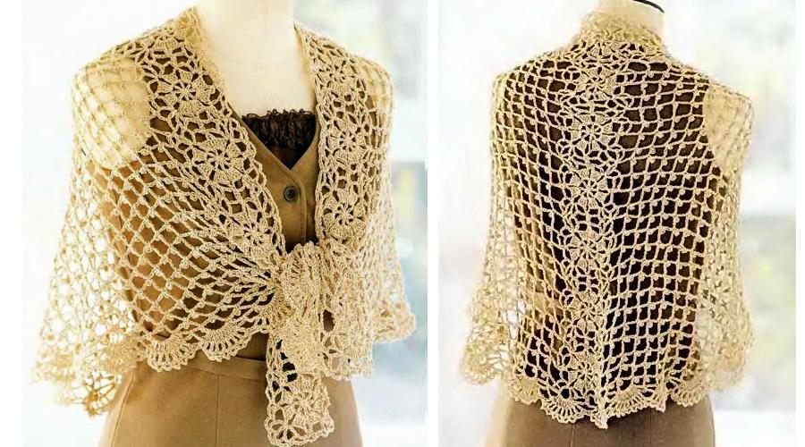 Precioso Chal en Crochet con Patrones - Manualidades Y ...