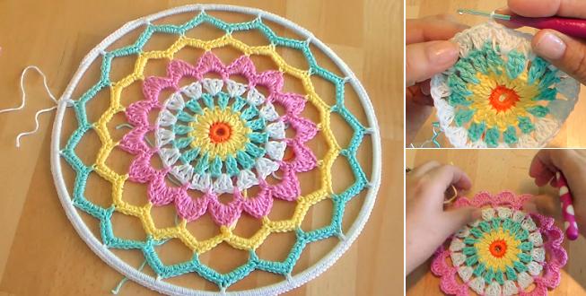 C mo hacer un bonito atrapasue os en crochet - Donde colocar un atrapasuenos ...