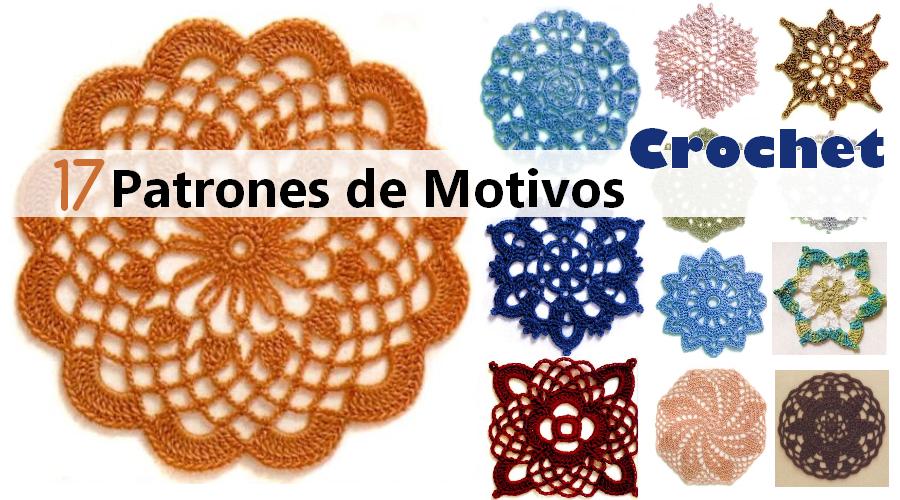 17 PATRONES DE MOTIVOS en CROCHET - Descarga gratis ⋆ Manualidades ...