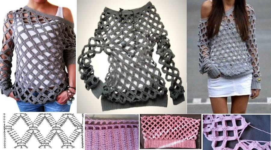 Cómo Tejer una Blusa Calada a Crochet - Tutorial - Manualidades Y ...