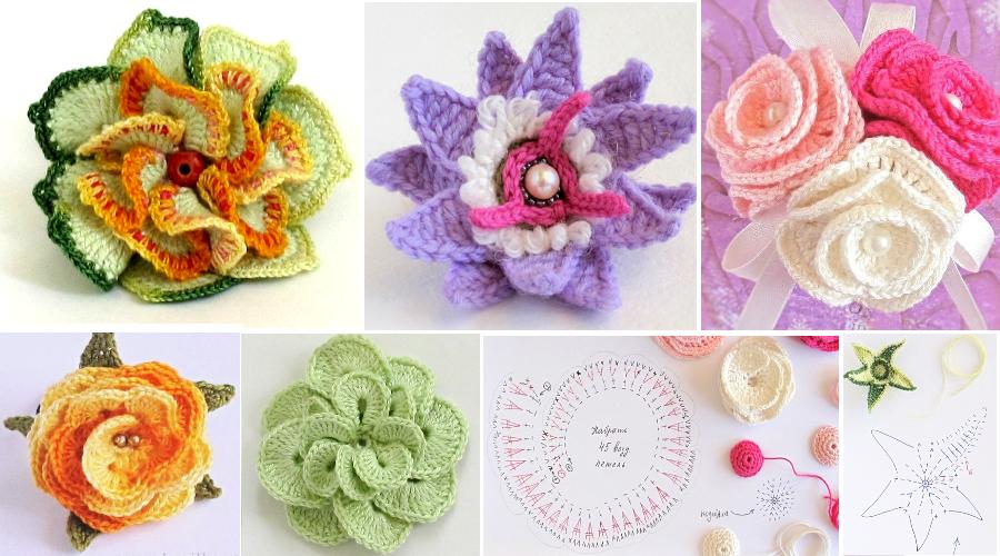 Como tejer maravillosas Flores a crochet - Manualidades Y ...