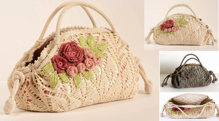Patrón de crochet de un precioso bolso - Manualidades Y ...