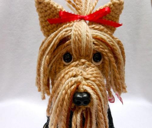 Adorable Yorkie Amigurumi | Perros amigurumis, Perro amigurumi ... | 420x500