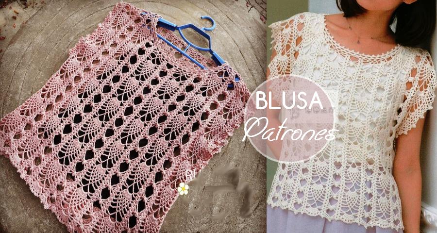 Blusa de Crochet para Verano Fácil de Tejer - Manualidades Y ...