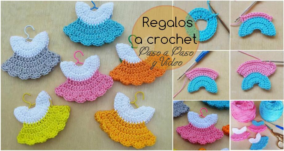 Como hacer mini vestidos a crochet