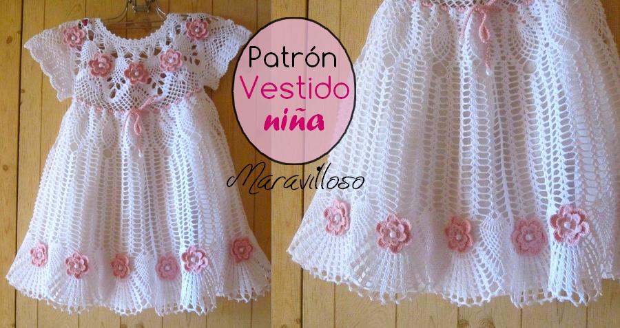 Como tejer un Precioso vestido para niñas a crochet ⋆ Manualidades ...
