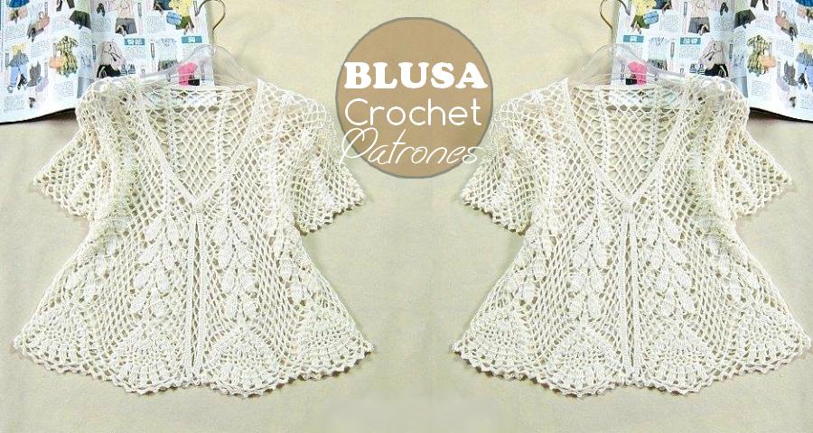 Patrones para hacer blusa de crochet - Manualidades Y ...