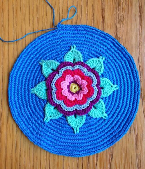 flor bolso crochet