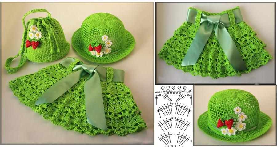 Bellisimo patrón de falda y sombrero - Manualidades Y ...